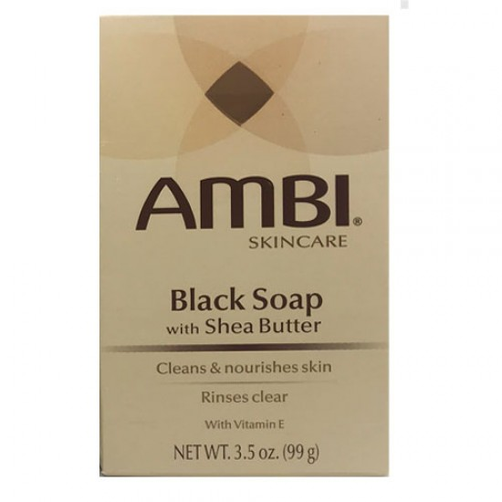 Ambi Skin Care Black Soap With Shea Butter Bar Soap 3.5 Oz