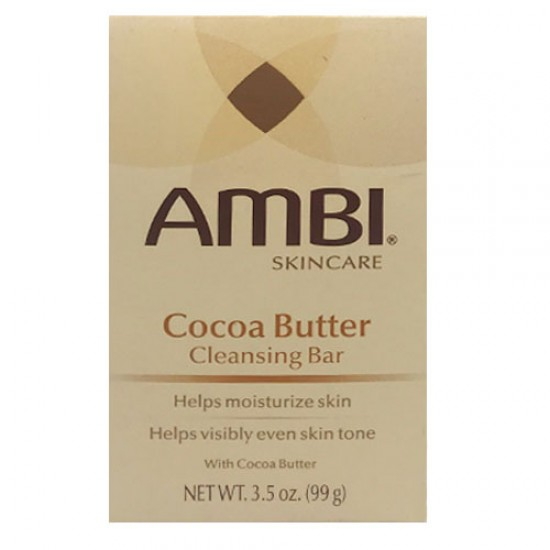 Ambi Skin Care Cocoa Butter Cleansing Bar Soap 3.5 Oz