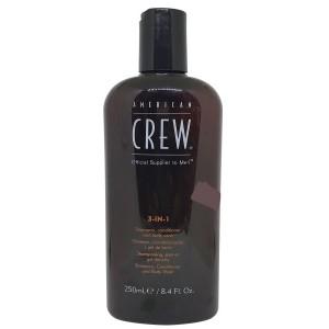 American Crew 3 In 1 Shampoo Conditioner Body Wash 8.4 Oz