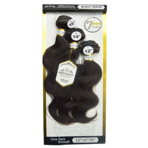 B&b Express 100% Unprocessed Brazilian Remi Human Hair Weave Body Wave