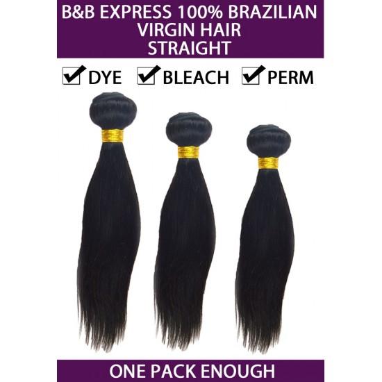 B&b Express 100% Unprocessed Brazilian Remi Human Hair Weave Straight