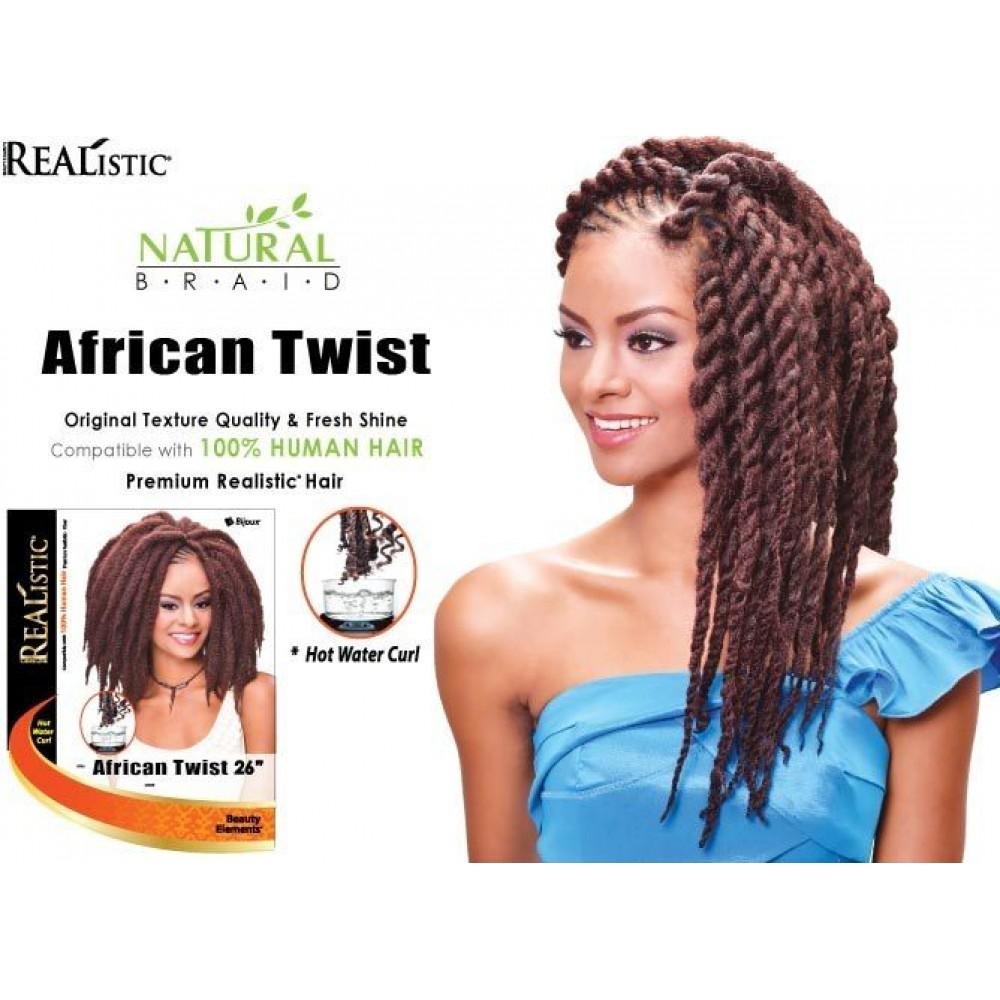Beauty Element Synthetic Hair Crochet Braid African Twist 26