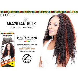 Beauty Element Synthetic Hair Crochet Braid Brazilian Curl Bulk 24""