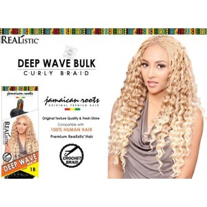 Beauty Element Synthetic Hair Crochet Braid Deep Wave Bulk 24""