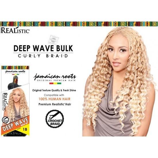 Beauty Element Synthetic Hair Crochet Braid Deep Wave Bulk 24