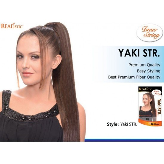 Beauty Element Synthetic Draw String Yaki Straight 18