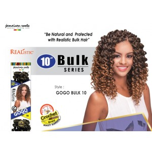 Beauty Element Synthetic Hair Crochet Braid Gogo Bulk 10""
