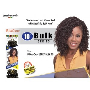Beauty Element Synthetic Hair Crochet Braid Jamaican Jerry Bulk 10""