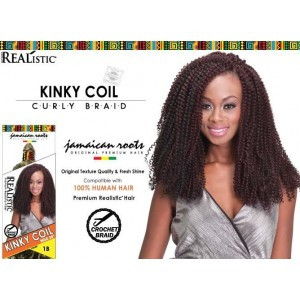 """Beauty Element Synthetic Hair Crochet Braid Kinky Coil Bulk 24"""""""