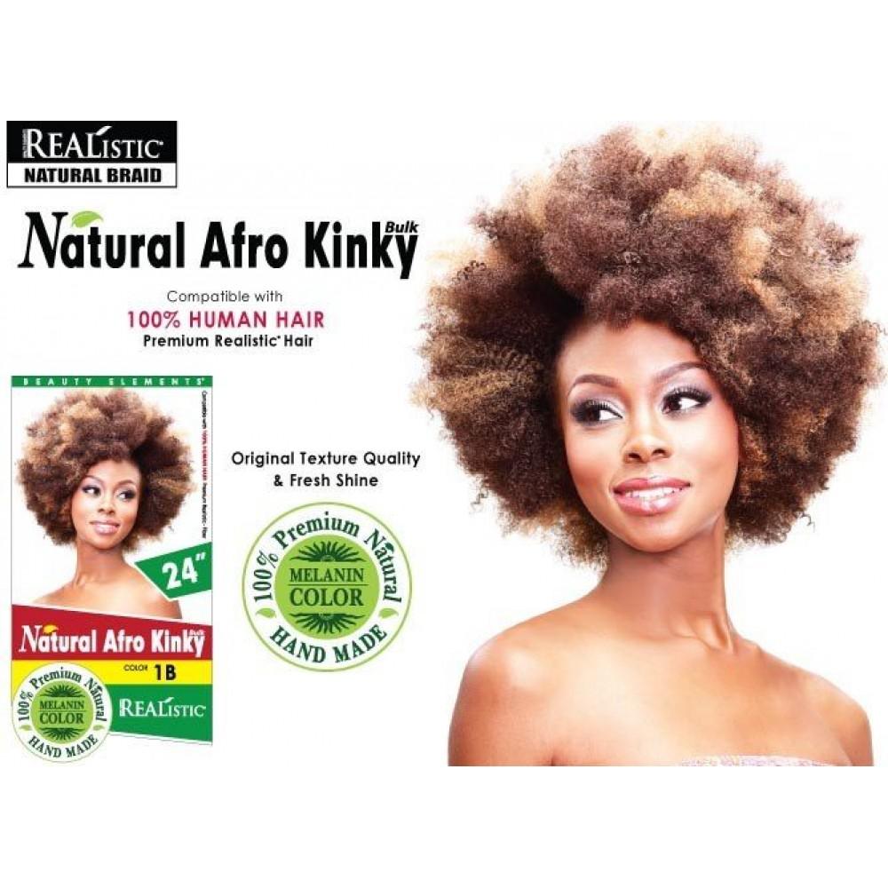 Beauty Element Synthetic Hair Crochet Braid Afro Kinky Bulk 24