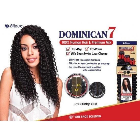 Bijoux Beauty Element Dominican 7 Kinky Curl Human Hair & Premium Mix Weave 18+20+22