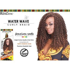 Beauty Element Synthetic Hair Crochet Braid Water Wave Bulk 24""