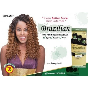 "Bijoux Beauty Element Soprano 100% Unprocessed Brazilian Virgin Remi Human Hair Weave Deep Wave  10""+12""+14"""