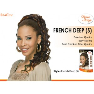 Beauty Element Synthetic Heat Resistant Draw String French Deep