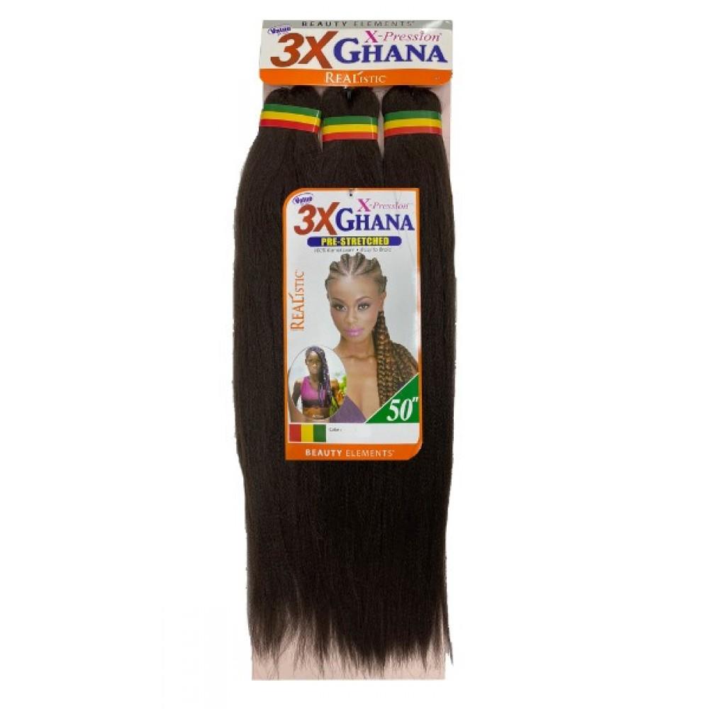 Bijoux 100% Kanekalon Jumbo Braids X-pression Pre Stretched 3x Ghana 50