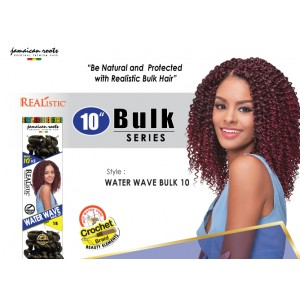 Beauty Element Synthetic Hair Crochet Braid Water Wave Bulk 10""