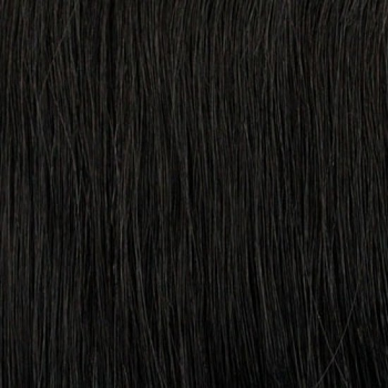 14 clip in - 10pcs 100% human hair extensions - straight-jet black (1)