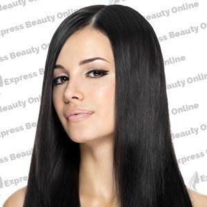"16"" clip in - 9pcs 100% human hair extensions - jet black (1)"