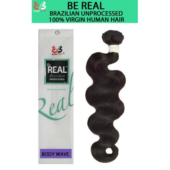 Bobbi Boss Be Real 100% Unprocessed Brazilian Virgin Remy Human Hair Weave Body Wave