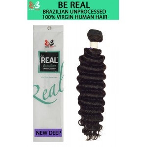 Bobbi Boss Be Real 100% Unprocessed Brazilian Virgin Remy Human Hair Weave Combo Pk New Deep