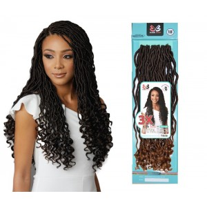 Bobbi Boss Synthetic Hair Crochet Braid Loop 3x Diva Locs 18""