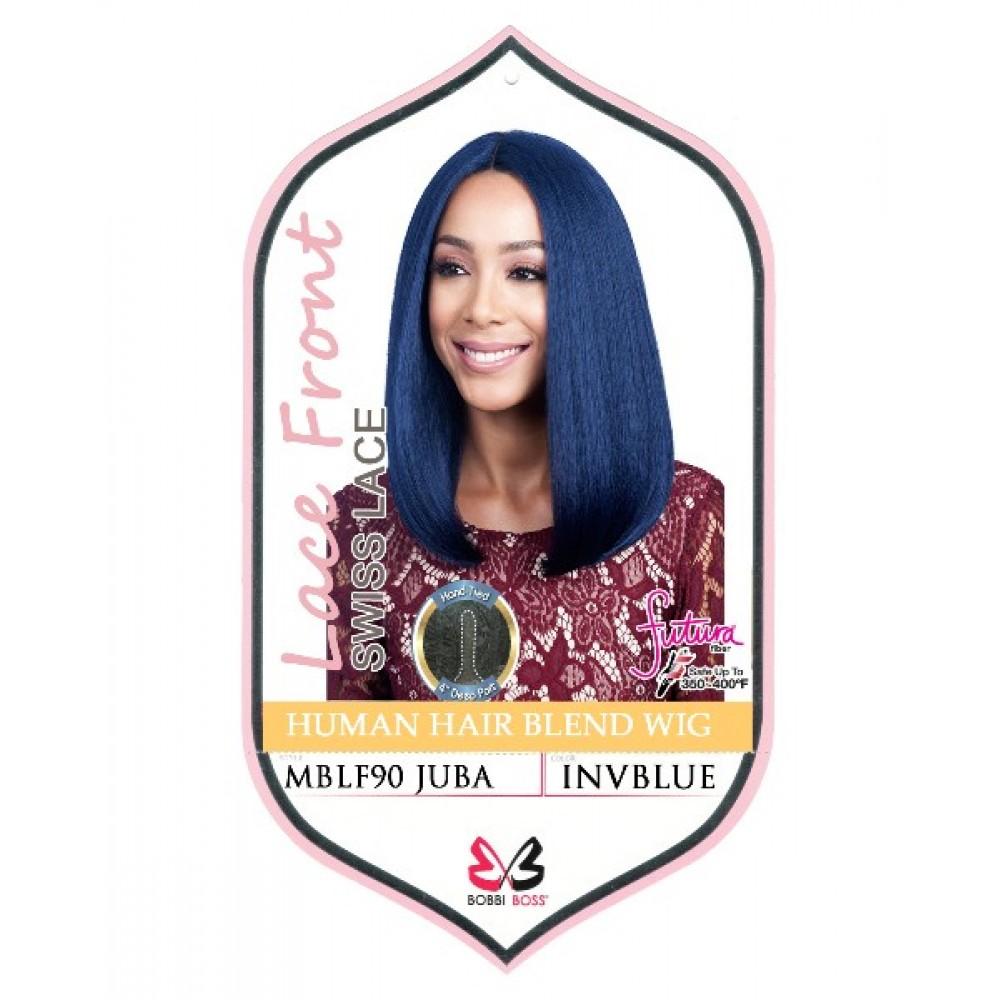 Bobbi Boss 100% Human Hair Blend Lace Front Deep Part Wig Mblf90 Juba