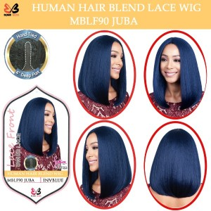 Bobbi Boss 100% Human Hair Blend Lace Front Deep Part Wig Mblf90 Juba