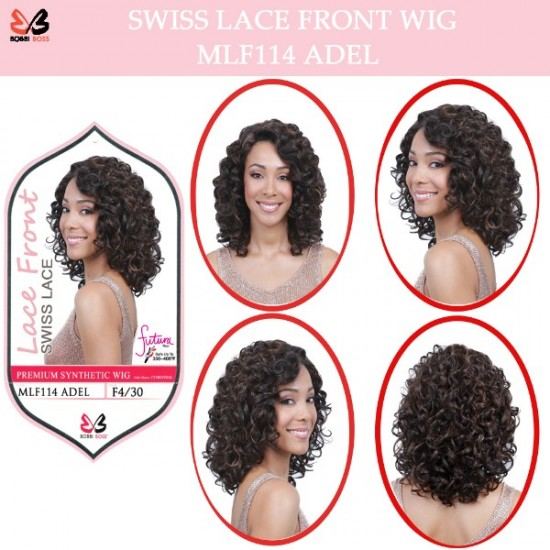 Bobbi Boss Synthetic Swiss Lace Front Wig Mlf114 Adel