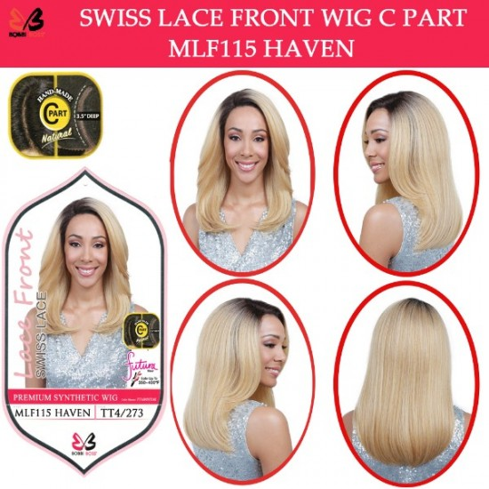 Bobbi Boss Synthetic Swiss Lace Front Deep Part Wig Mlf115 Haven