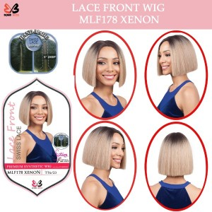 Bobbi Boss Synthetic Swiss Lace Front Deep Part Wig Mlf178 Xenon