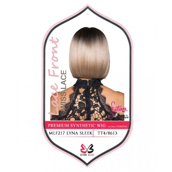 Bobbi Boss Synthetic Swiss Lace Front Deep Part Wig Mlf217 Lyna Sleek