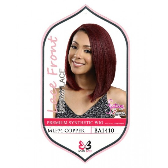 Bobbi Boss Synthetic Swiss Lace Front Wig Mlf74 Copper
