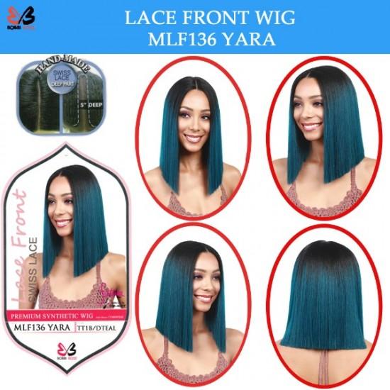 Bobbi Boss Synthetic Swiss Lace Front Deep Part Wig Mlf136 Yara