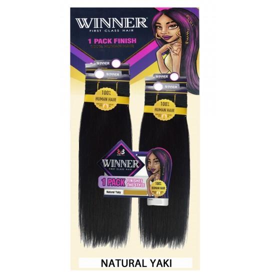 Bobbi Boss Winner 100% Human Hair Weave 4pcs Natural Yaki