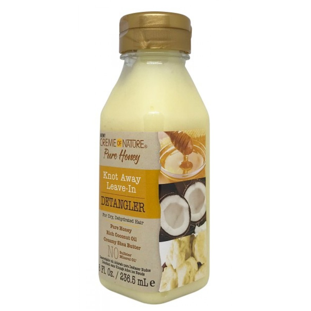 Creme Of Nature Pure Honey Knot Away Leave In Detangler 8 Oz