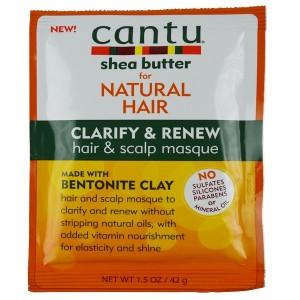 Cantu Shea Butter For Natural Hair Clarify And Renew Hair & Scalp Masque 1.5 Oz
