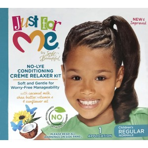Just For Me Kids No-lye Conditioning Creme Relaxer Kit Reg