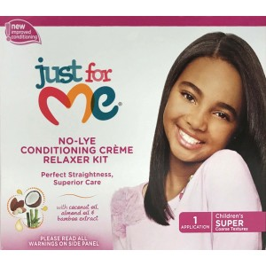 Just For Me Kids No-lye Conditioning Creme Relaxer Kit Sup