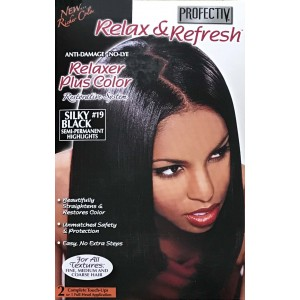 Profective Relaxer & Refresh Relaxer Plus Color Silky Black 19