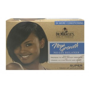 Dr Miracles New Growth No Lye Conditioning Relaxer Kit Super