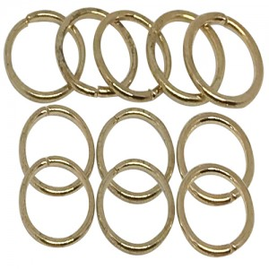 Ebo Braid Hair Ring Hair Decorations Gold Ring 12 Mm 14 Pcs