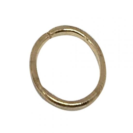 Ebo Braid Hair Ring Hair Decorations Gold Ring 12 Mm 14 Pcs