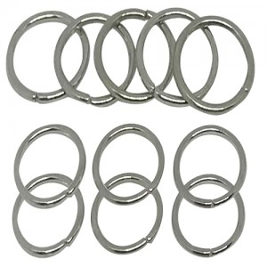 Ebo Braid Hair Ring Hair Decorations Silver Ring 12 Mm 14 Pcs