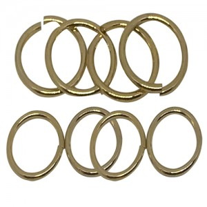 Ebo Braid Hair Ring Hair Decorations Gold Ring 15 Mm 12 Pcs