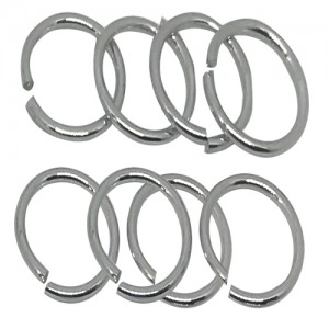 Ebo Braid Hair Ring Hair Decorations Silver Ring 15 Mm 12 Pcs