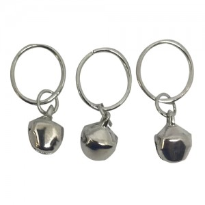 Ebo Braid Hair Ring Hair Decorations Charm Bells Silver 12 Mm 6 Pcs