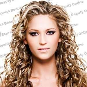"20"" elastic hair curly - human hair feel extensions - honey/pure blonde (27hr/613)"