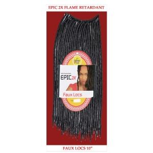 "Epic Synthetic Hair Crochet Braid Loop Faux Locs 10"""