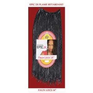 "Epic Synthetic Hair Crochet Braid Loop Faux Locs 14"""