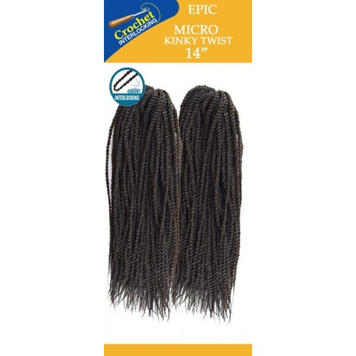 Epic Synthetic Hair Crochet Braid Micro Kinky Twist 14